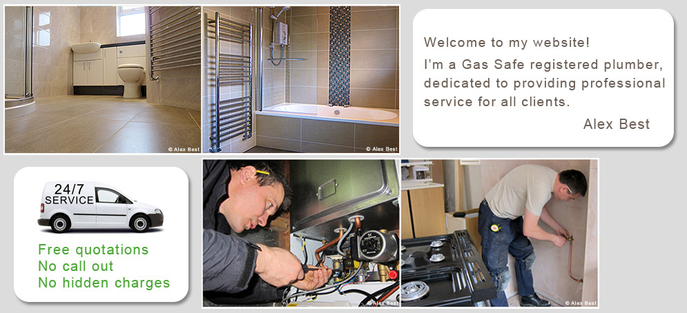 alex best gas safe plumber specialising in boiler and bathroom